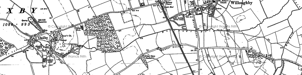 Old map of Willoughby in 1887