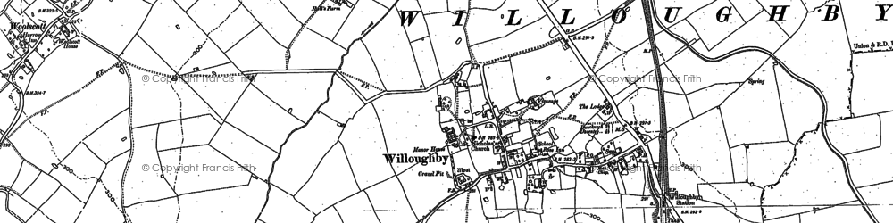 Old map of Willoughby in 1899