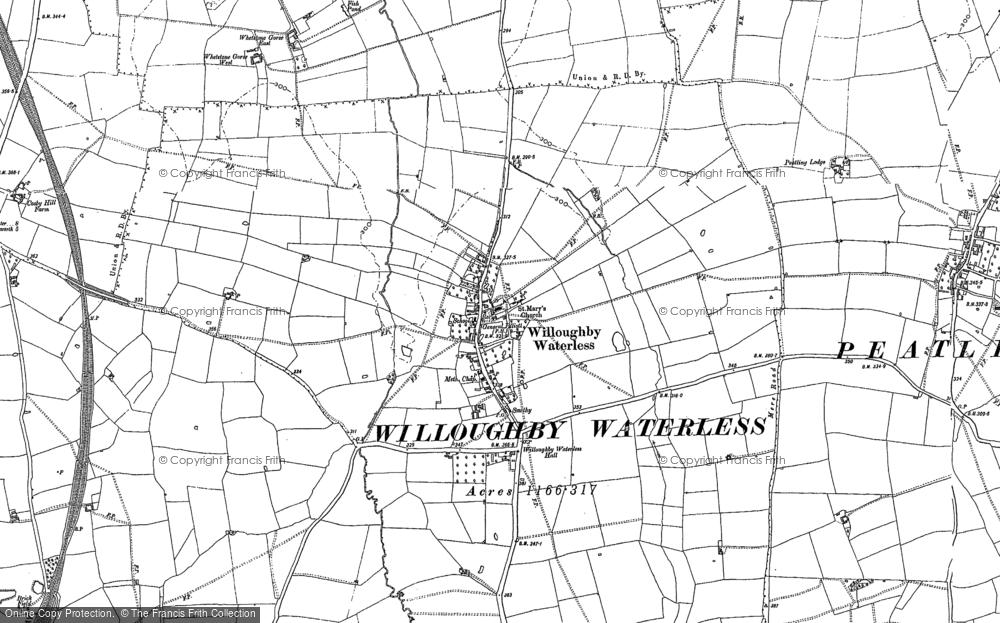 Willoughby Waterleys, 1885