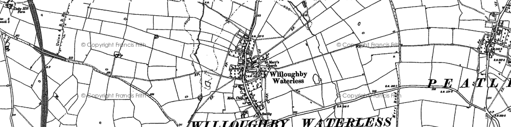 Old map of Whetstone Pastures in 1885
