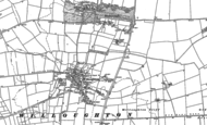 Old Map of Willoughton, 1885