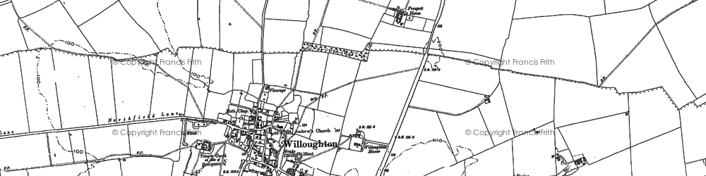 Old map of Willoughton Cliff in 1885