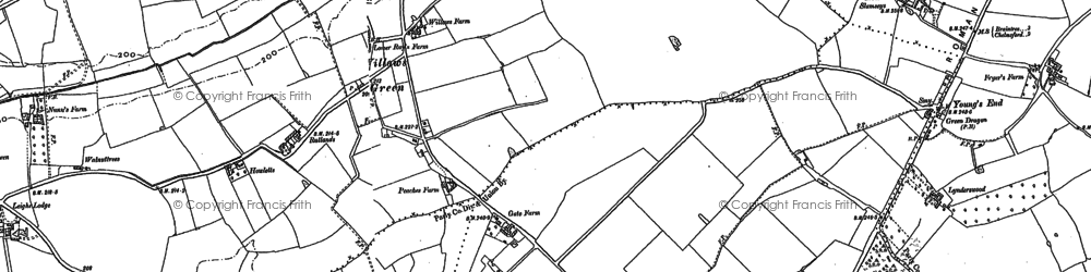 Old map of Willows Green in 1895