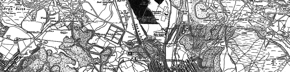 Old map of Pontygof in 1879