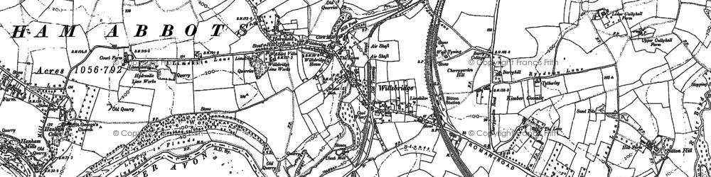Old map of Willsbridge in 1902