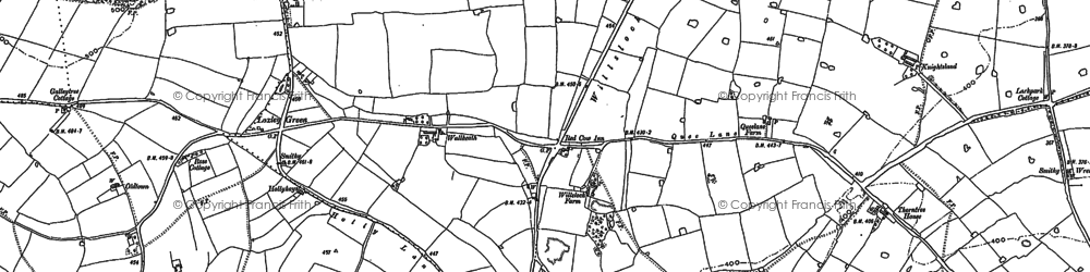 Old map of Willslock in 1881