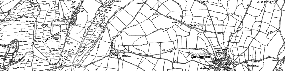 Old map of Willstone in 1882