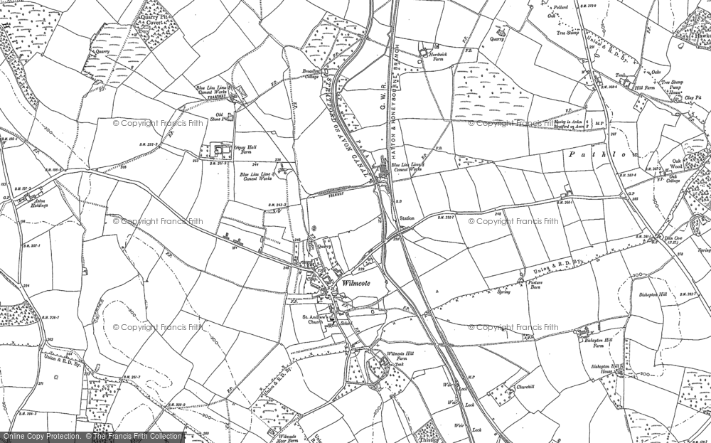 Map of Wilmcote, 1885 - 1886
