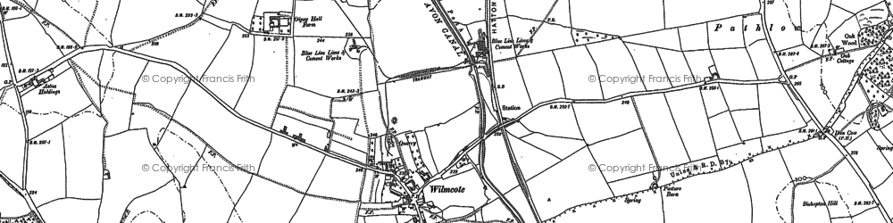 Old map of Wilmcote in 1885