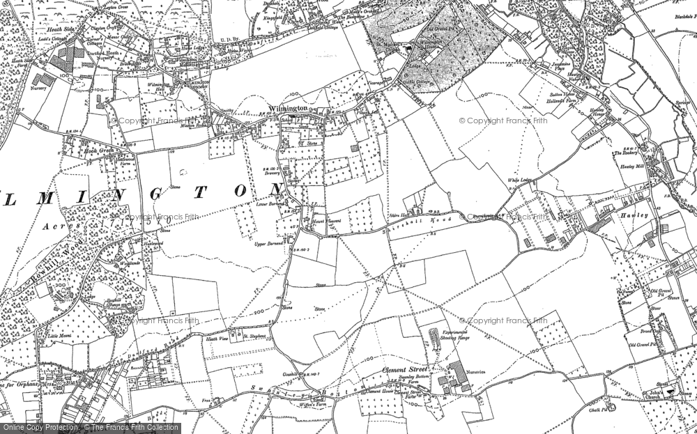 Old Map of Historic Map covering Leyton Cross in 1895