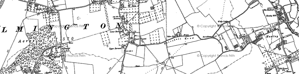Old map of Leyton Cross in 1895