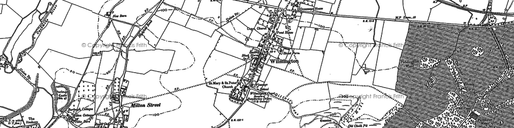 Old map of Wilmington Green in 1898
