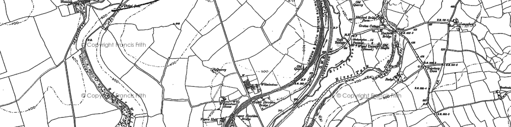 Old map of Wilminstone in 1883