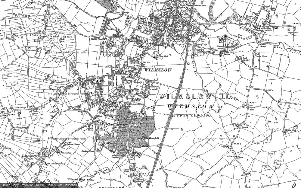 Old Map of Wilmslow, 1897 in 1897