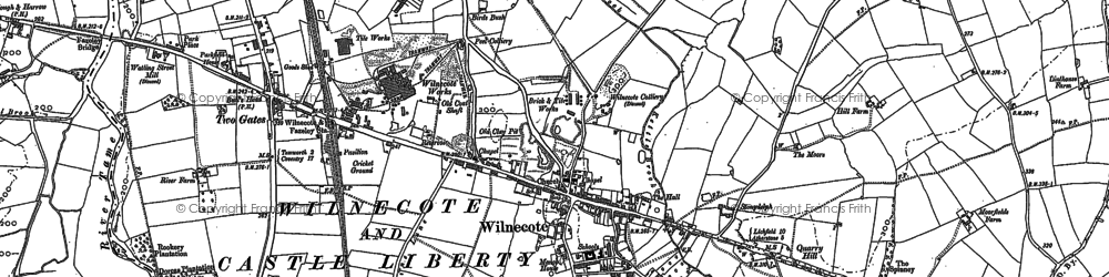 Old map of Wilnecote in 1883