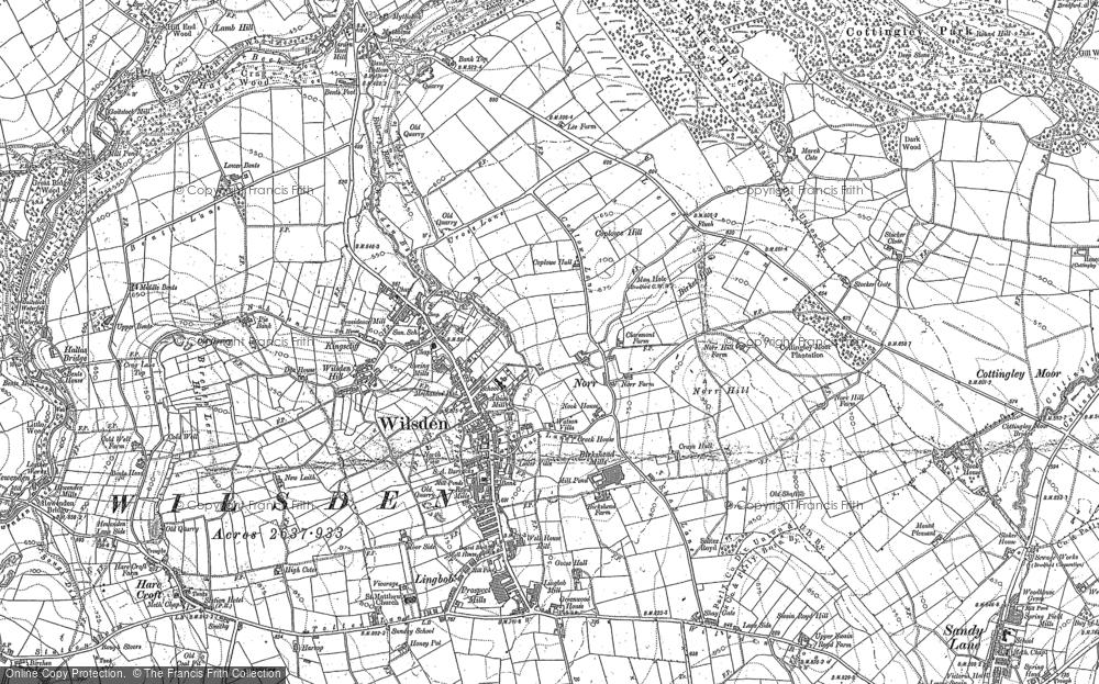 Map of Wilsden, 1891 - 1892