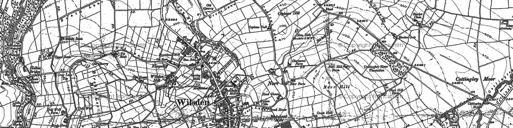 Old map of Wilsden Hill in 1891