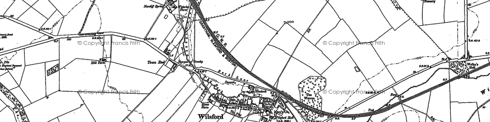 Old map of Wilsford in 1887