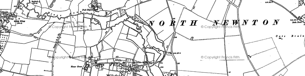 Old map of Wilsford in 1899