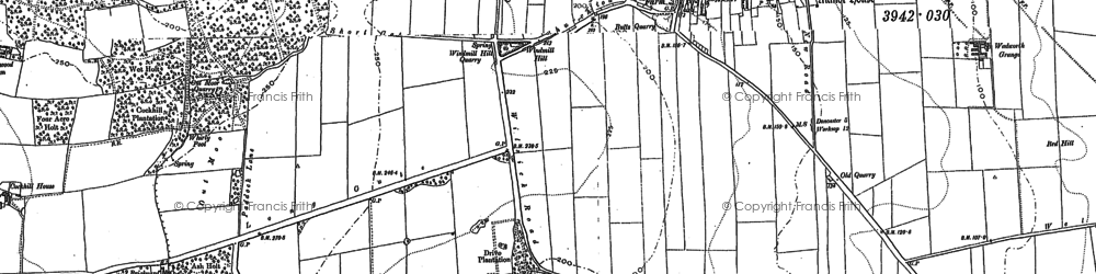 Old map of Wilsic in 1891