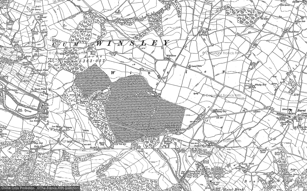Map of Wilsill, 1907 - 1908