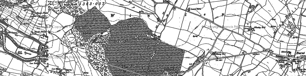 Old map of Wilsill in 1907