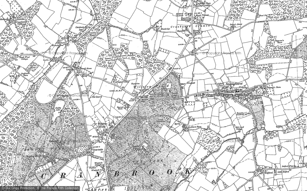 Old Map of Wilsley Pound, 1895 - 1907 in 1895
