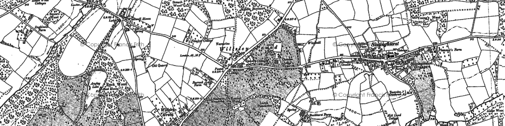 Old map of Wilsley Pound in 1895