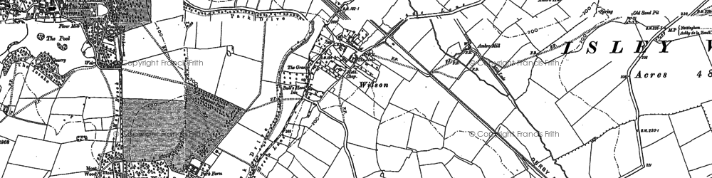 Old map of Wilson in 1899