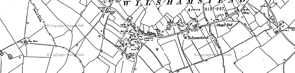 Old map of Lark Hill in 1882