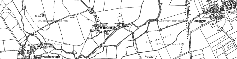 Old map of Wilsthorpe in 1886