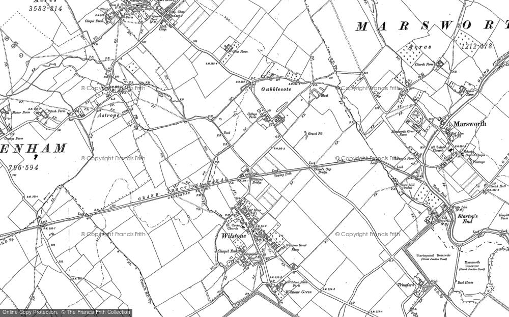 Map of Wilstone, 1896 - 1923