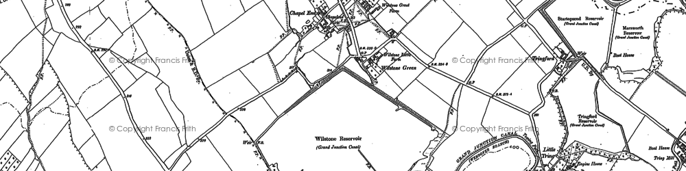Old map of Wilstone Resr in 1896