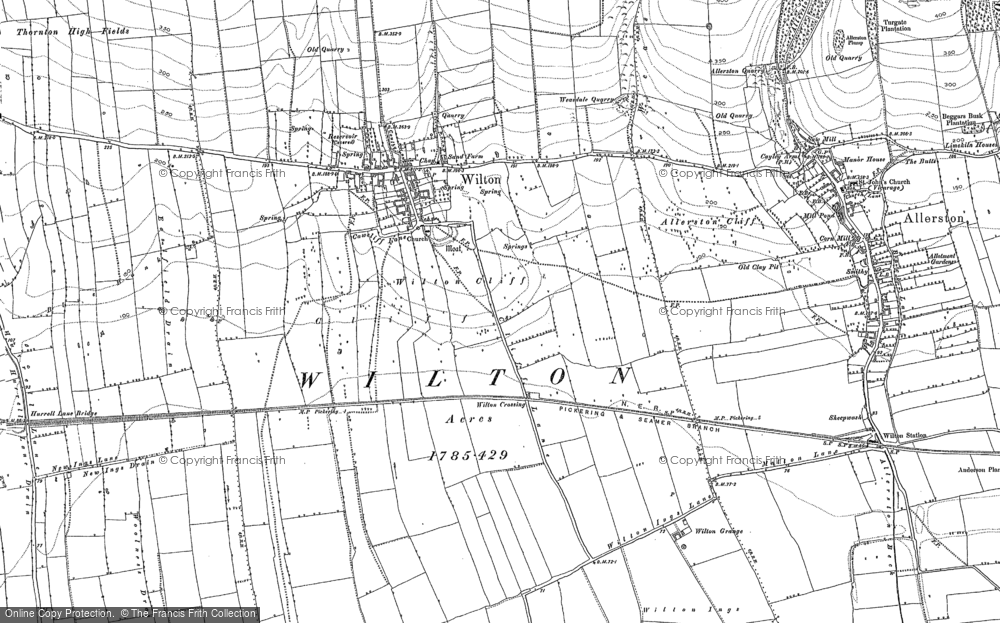 Old Map of Wilton, 1890 in 1890