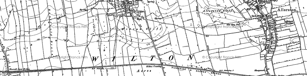 Old map of Wilton in 1890