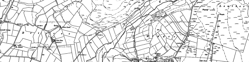 Old map of Wilton in 1898