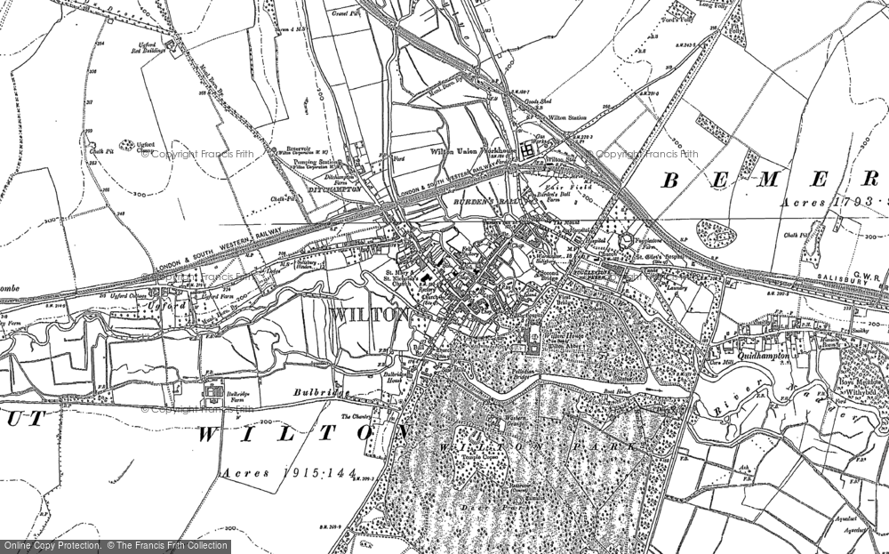 Map of Wilton, 1899 - 1900