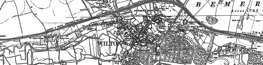 Old map of Wilton in 1899