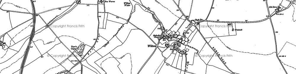 Old map of Wilton Down in 1899