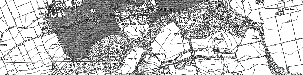 Old map of Wilton in 1913