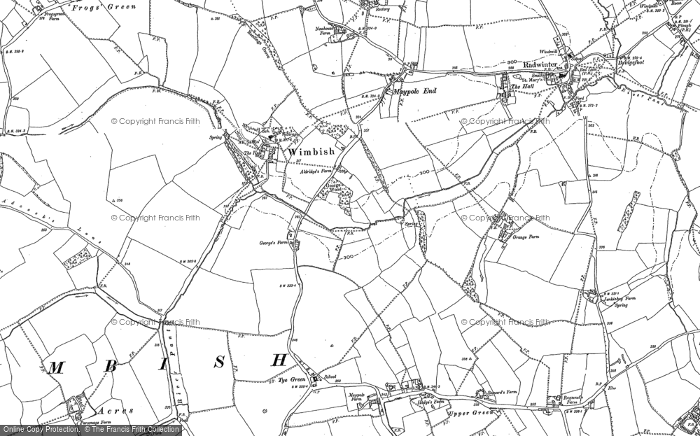 Old Map of Historic Map covering Tindon End in 1896