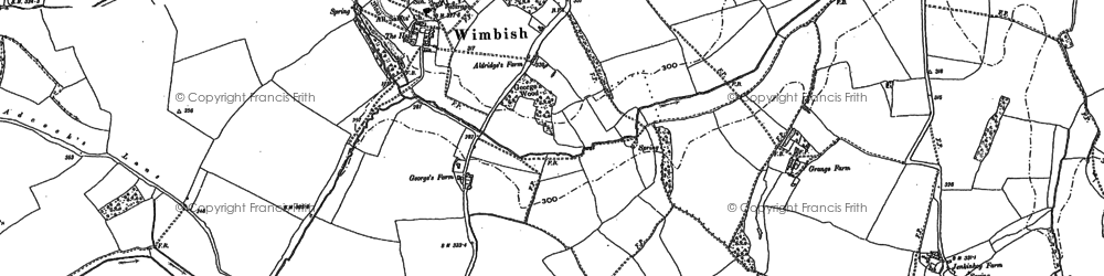 Old map of Wimbish Hall in 1896