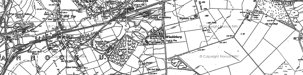 Old map of Wimblebury in 1883