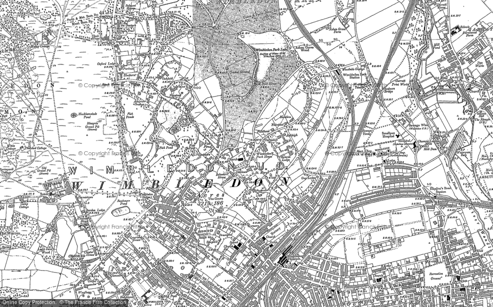 Map of Wimbledon, 1894 - 1895