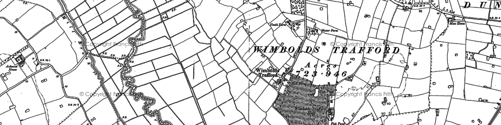 Old map of Wimbolds Trafford in 1897