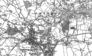 Old Map of Wimborne Minster, 1887 - 1900