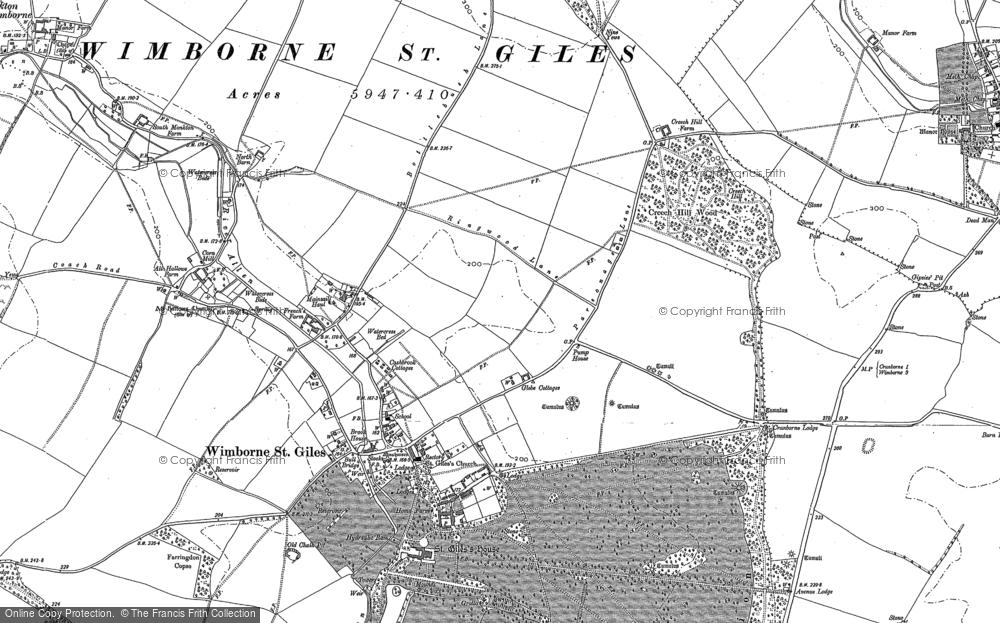 Wimborne St Giles, 1886 - 1900