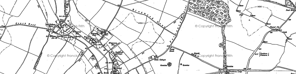 Old map of Wimborne St Giles in 1886