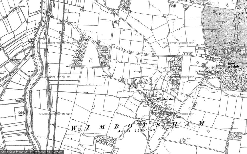 Old Map of Wimbotsham, 1884 - 1886 in 1884