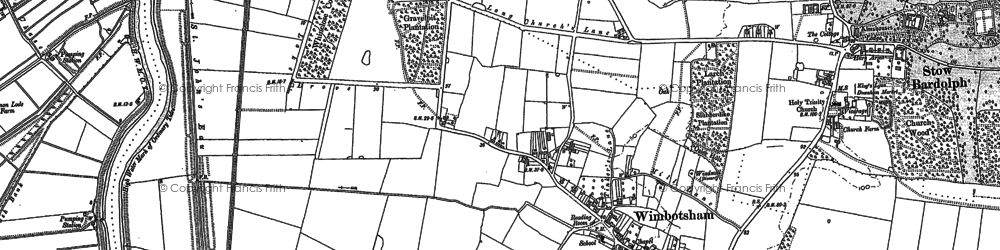Old map of Wimbotsham in 1884